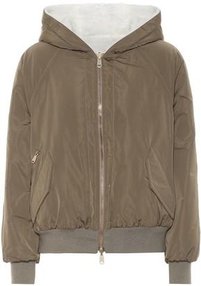 Brunello Cucinelli Technical silk-blend jacket