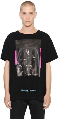 Caravaggio Printed Cotton Jersey T-Shirt $299 thestylecure.com