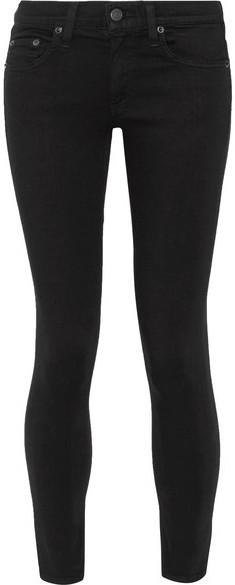 Rag & bone - The Capri Cropped Mid-rise Skinny Jeans - Black