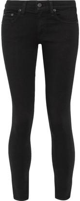 Rag & bone - The Capri Cropped Mid-rise Skinny Jeans - Black $195 thestylecure.com