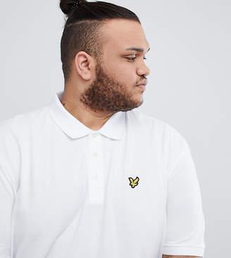 Lyle & Scott Logo Pique Polo Shirt in White