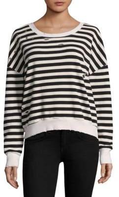Splendid Distressed Stripe Sweatshirt