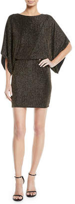 Jay Godfrey JAY X JAYGODFREY Metallic Rib-Knit Mini Dress
