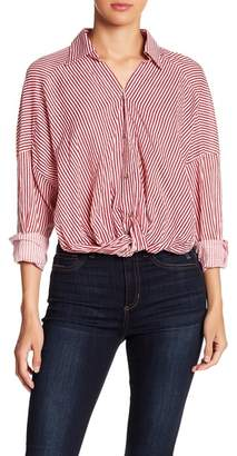 EMORY PARK Striped Gathered Front Shirt