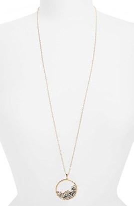 Women's Panacea Beaded Circle Pendant Necklace $24 thestylecure.com