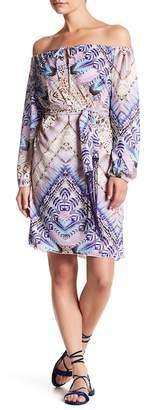 Letarte Off-the-Shoulder Pattern Dress $338 thestylecure.com