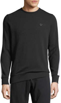 True Religion Crewneck Cotton-Blend Sweatshirt