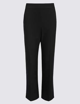Marks and Spencer Elastic Back Straight Leg Trousers