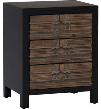 Household Essentials Modern 3-Drawer End Table with Wood Drawer Front