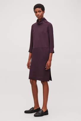 Cos FUNNEL-NECK SHIRT DRESS