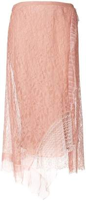 3.1 Phillip Lim lace embroidered midi skirt