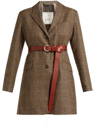 Giuliva Heritage Collection - Karen Single Breasted Merino Wool Blazer - Womens - Grey Multi