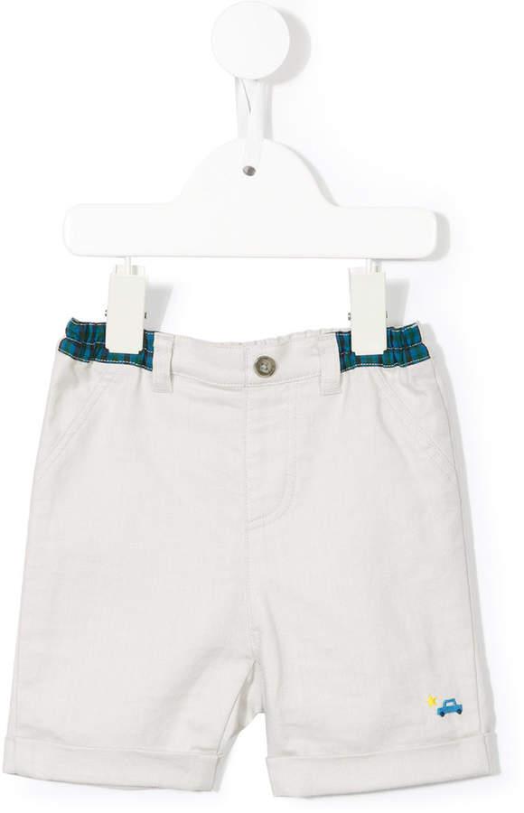elasticated denim shorts