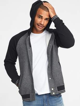 Old Navy Hooded Varsity-Style Bomber Jacket for Men