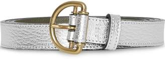 Burberry Slim Metallic Leather D-ring Belt