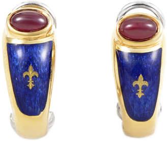 Faberge Heritage Graff Diamonds 18K Ruby Earrings