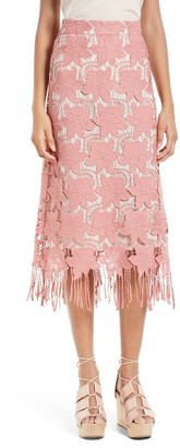Women's Alice + Olivia Strand Lace Pencil Skirt $295 thestylecure.com