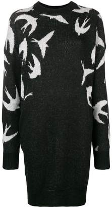 McQ swallow sweater dress