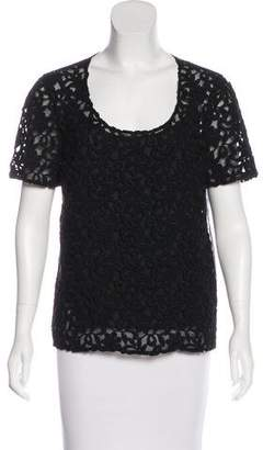 Burberry Silk Embroidered Top