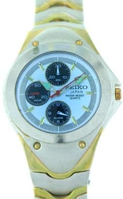 Seiko Chronograph Blue Glass Face Watch 7N89-5000
