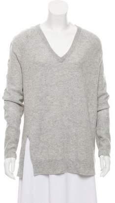 4834e4e094 White + Warren Cashmere Lace-Up Sweater