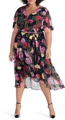 Rachel Roy Rina Floral Print Chiffon Dress