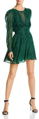 LINI Gemma Puff-Sleeve Burnout Dress - 100% Exclusive
