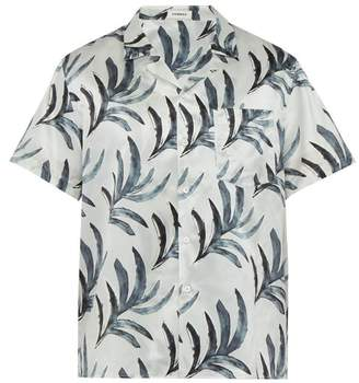 Commas - Water Colour Print Silk Blend Shirt - Mens - White