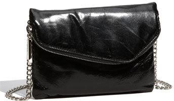 'Daria' Leather Crossbody Bag - Black