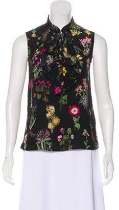 No.21 No. 21 Floral Print Silk Blouse