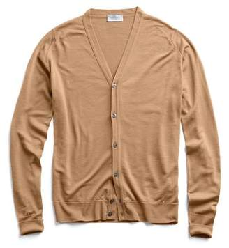 John Smedley Sweaters Easy Fit Merino Cardigan in Camel