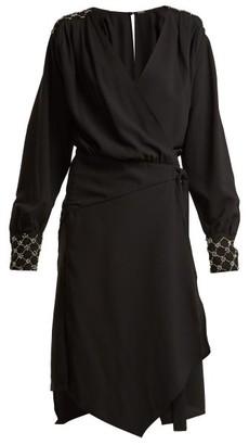 Dodo Bar Or Mirella Crystal Embellished Stretch Crepe Dress - Womens - Black