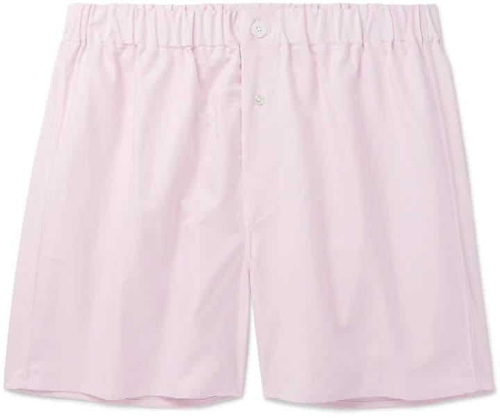 Emma Willis Cotton Oxford Boxer Shorts