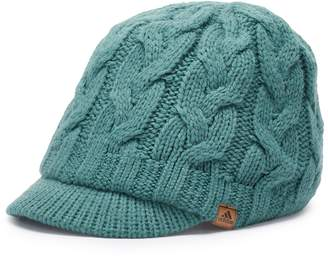 adidas Women's Crystal Cable Knit Brimmer Beanie