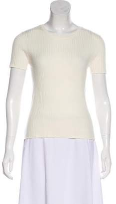ALEXACHUNG x AG Short Sleeve Knit Top