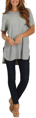 Mud Pie Grey Jersey Tunic Top $39.99 thestylecure.com