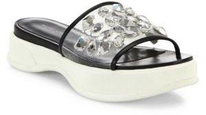 MICHAEL Michael KorsMichael Kors Collection Betty Runway Jeweled PVC Platform Slides