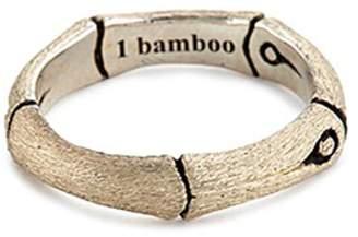 John Hardy Brushed silver bamboo ring