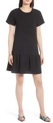 Halogen Short Sleeve Ruffle Hem Dress