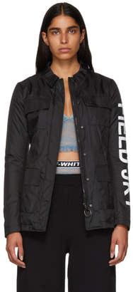 Off-White Black Ripstop Quote Jacket
