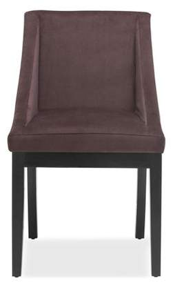 DHI Oxford Swoop Back Upholstered Dining Chair, Multiple Colors