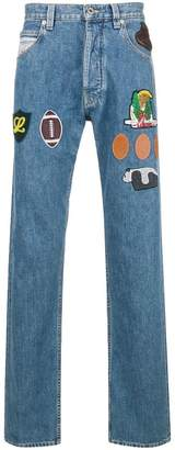 Loewe patches jeans