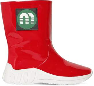 Miu Miu 10mm Faux Patent Leather Rain Boots