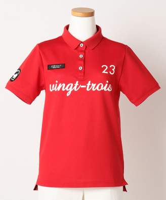 23区 (ニジュウサンク) - 23区GOLF 【JUNIOR / GIRL】【UV / 吸水速乾】ディスノーティスカノコ ポロシャツ(C)FDB
