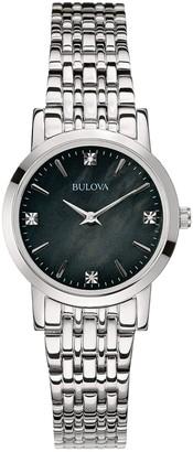 Bulova Women's Stainless Diamond Accent Motherof Pearl Watch