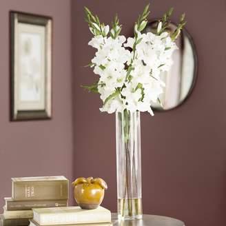 Willa Arlo Interiors Large Gladiola in Cylinder Vase Silk Arrangement
