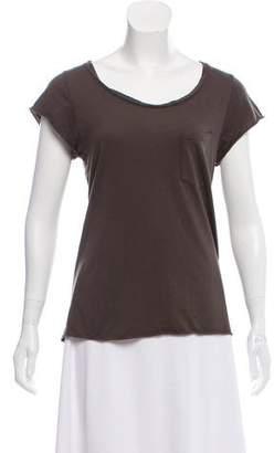 OAK Short Sleeve Scoop Neck Top