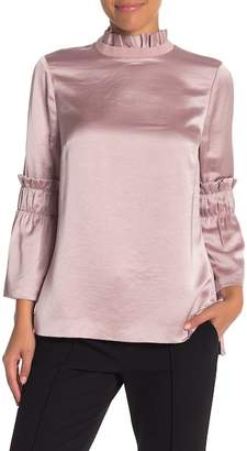 Ted Baker Myani Ruffle Hammered Satin Top