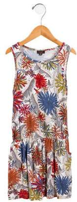 Imoga Girls' Floral Print Sleeveless Dress