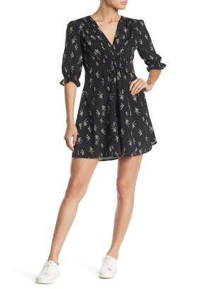 re:named apparel Lucia Floral Print Mini Dress